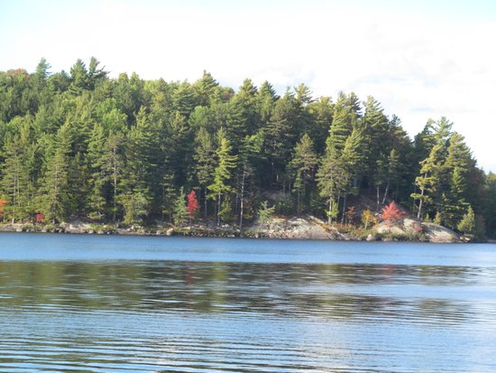 Sandy Point Motel : This is a close-up view of the lake from the motel's dock.
