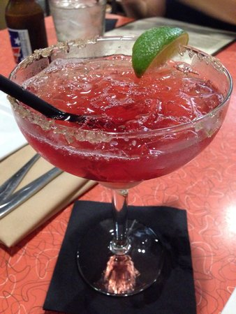 Mezcal Tequila Cantina: Pomegranate and Peach Marg. Yum!