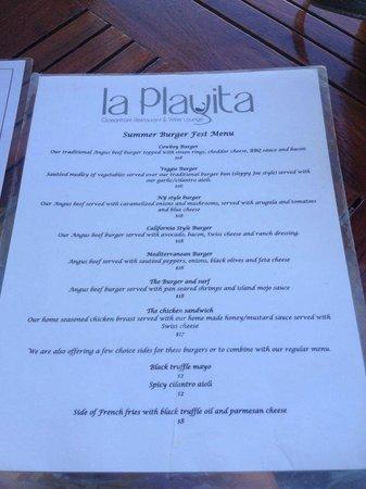 La Playita Restaurant & Bar: Menu at Lay Playita