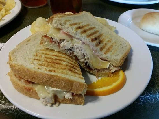Veranda Cafe & Gifts: Turkey Brie Cranberry Grilled Sandwich!  My fav!