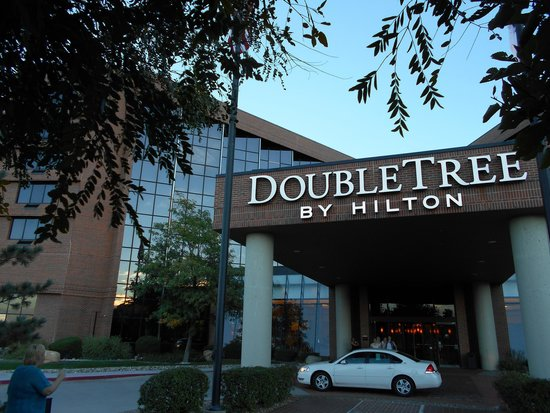 DoubleTree Denver Aurora: View from the courtyard to our room...