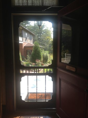 The Reynolds Mansion: The back screen door