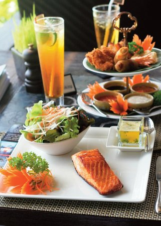 Chef's Table: Grilled salmon steak and a selection of Thai appetizers