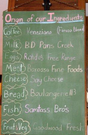 L'Atelier Gourmand Bistro: Local ingredients