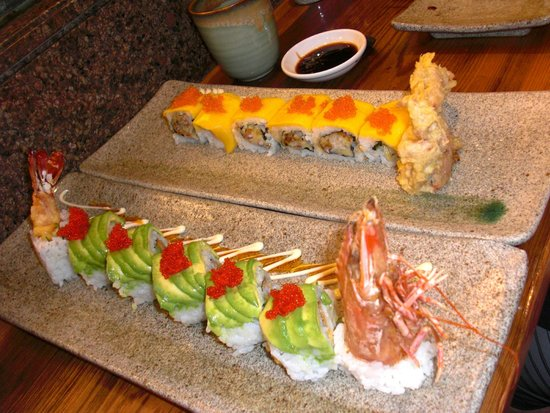 Tiger rolls and spider rolls picture of kabuki japanese - Kabuki japanese cuisine ...