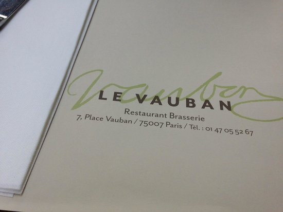 Le Vauban: 테이블보
