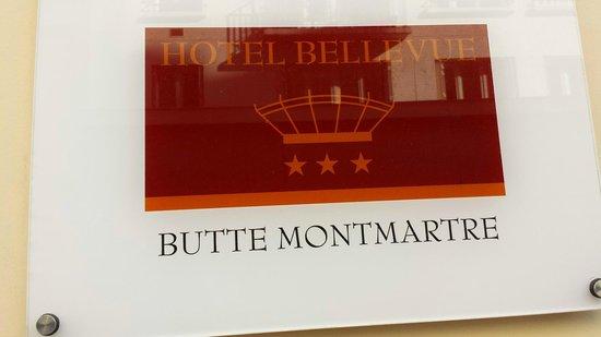 Hôtel Bellevue Paris Montmartre : targa