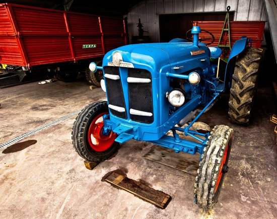 Carpeneto, Italija: trattore d'epoca
