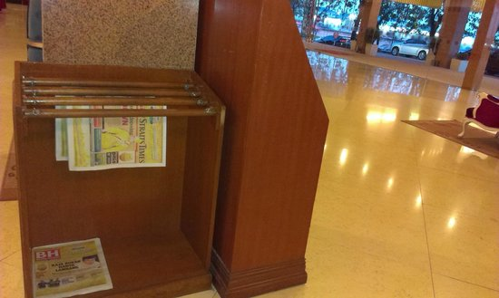 M Suites Hotel: newspaper rack in the lobby