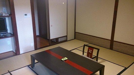 Ryokan Tanabe : otra vista de la habitación de día