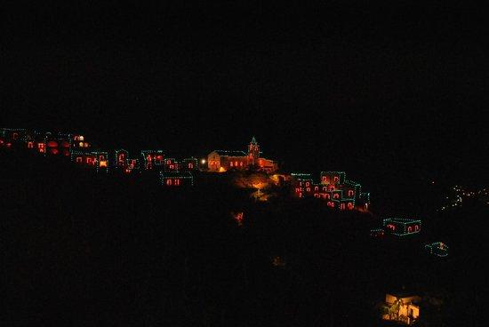 Giardino dei Limoni B&B : panorama notturno dal terrazzino