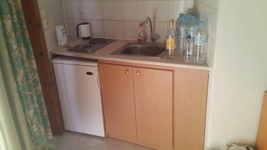 Elarin Studios & Apartments: Кухня