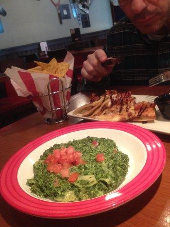 TGI Friday's: Artichockes dip and chicken quesadillas