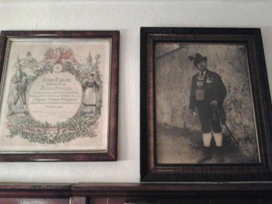 Gasthof Einhorn Schaller: de eerste eigenaar kijkt toe