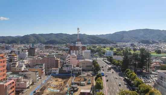 Hotel Sunroute Plaza Fukushima: Aussicht aus Zimmer