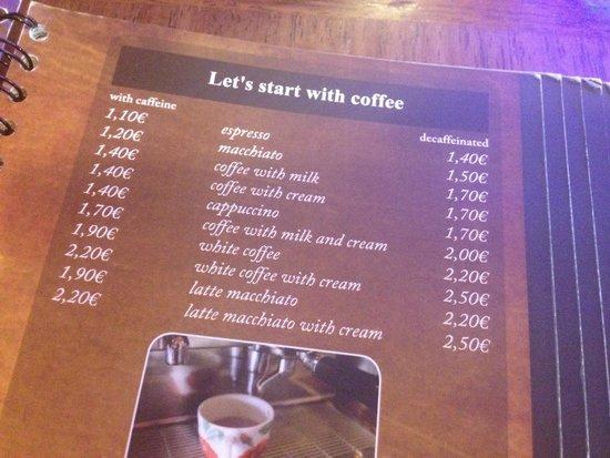 Slascicarna pri Vodnjaku: Coffees