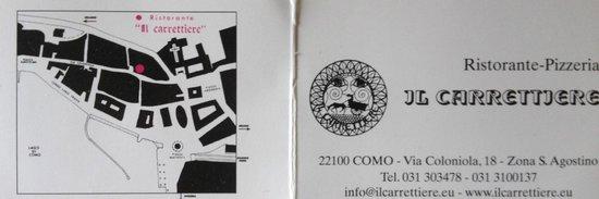 Il Carrettiere: Business card - front