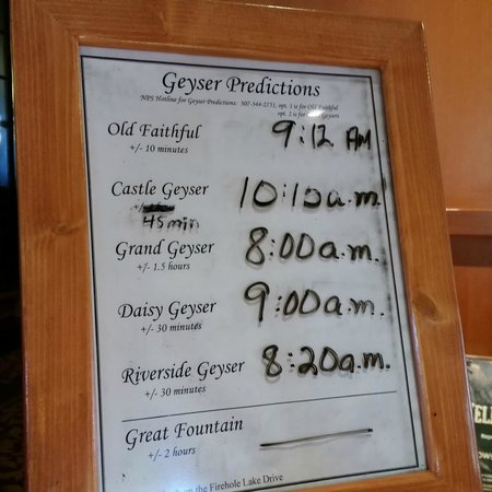 Old Faithful Lodge Cabins : Prediction