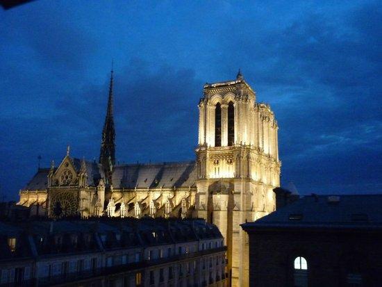 Hospitel-Hotel Dieu Paris: Notre Dame from our high window