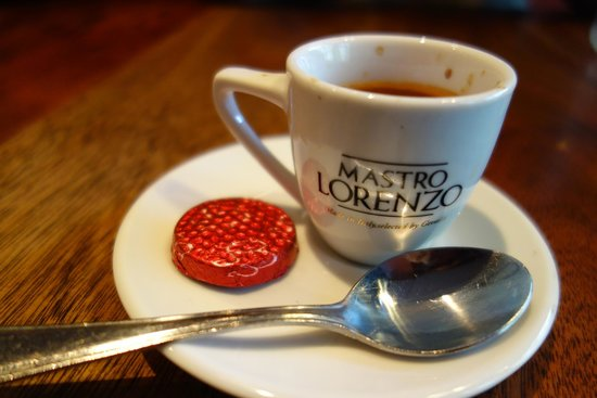 Sinclair's Steakhouse: Single shot espresso!