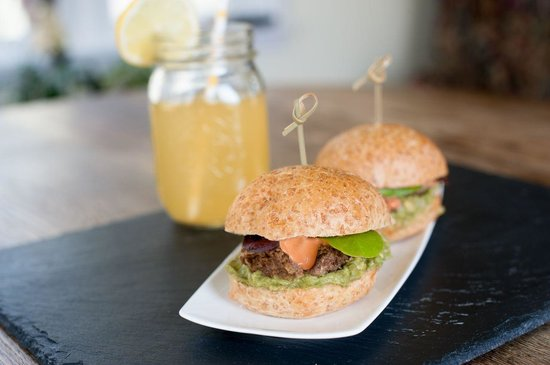 The Green Palate: Veggie Burger Sliders