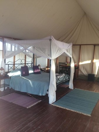 Maramboi Tented Camp: inside of the tent