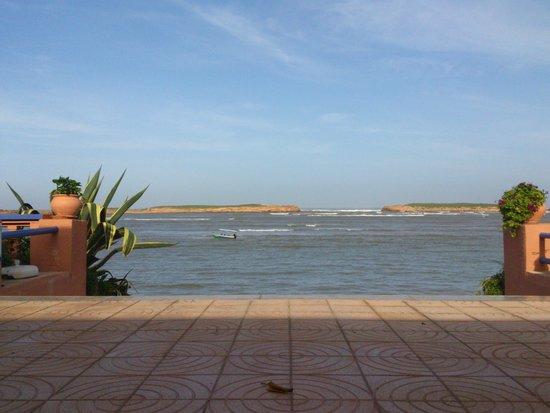 Hôtel L'Hippocampe: Dit is het zicht van het terras op de lagune