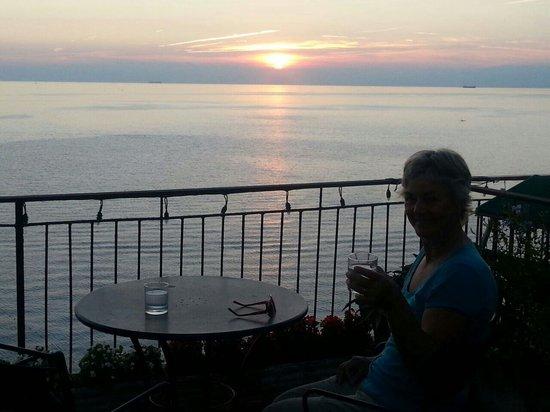 Hotel Casmona: Sunset on Casmona's terrace.