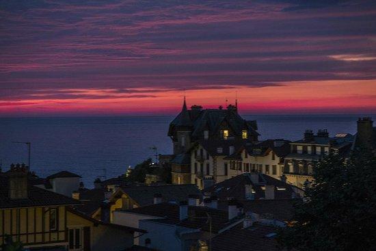 Hôtel de Silhouette Restaurant : Vista del mar