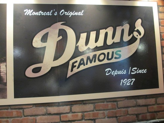 Dunn's Famous : Sign