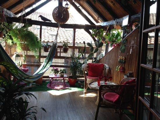 Le Colombier de Cyrano et Roxane: our terrace