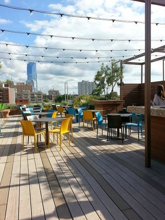 rooftop seating view picture of packard s new american kitchen