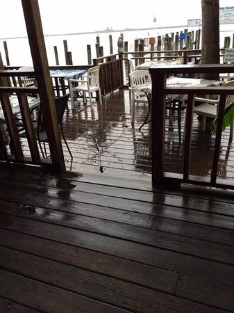 Boss Oyster: rain shuts down open-air dining