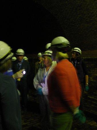 Brighton Sewer Tour: Switch on Helmet Lights