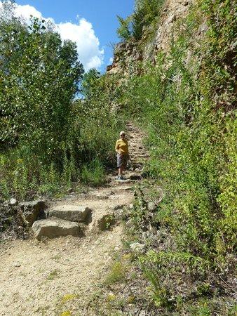 Mines of Spain Recreation Area: Start the climb