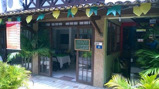 Pousada Aquarela : Vista da entrada/restaurante