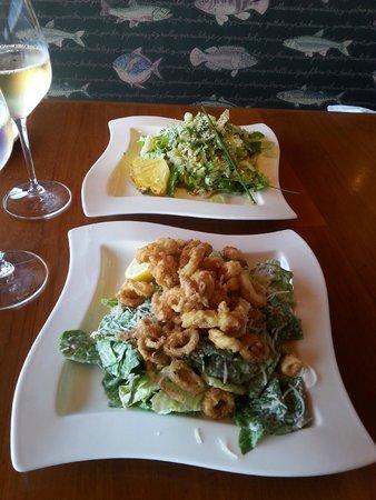 Anthony's Homeport: Almond Chicken Salad & Crispy Calamari Caesar Salad