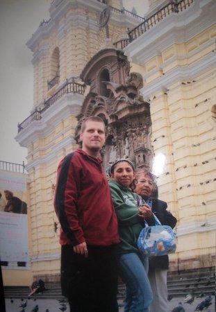 Iglesia y Convento de San Francisco: hubbie, mom and me