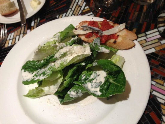 Table 10: Caesar Salad as part of 3-course lunch tasting menu item