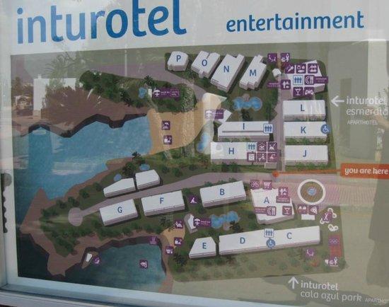 Übersicht Hotelanlagen Inturotel Esmeralda Park und Azul Park in Cala d'Or