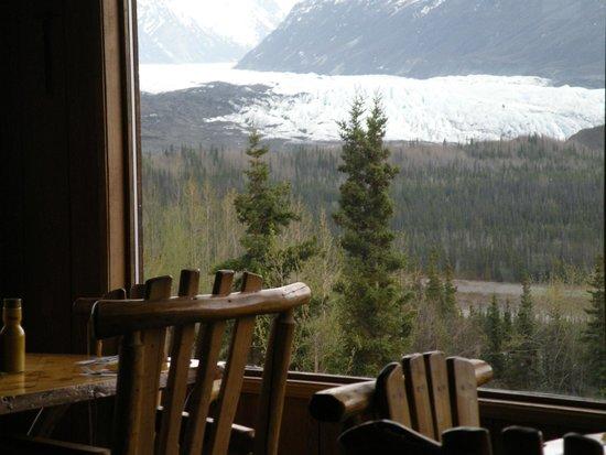 Long Rifle Lodge: View of the magnificent Matanuska Glacier