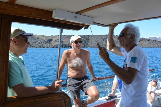 Santorini Yachting: with captain george