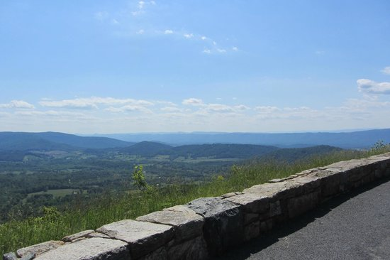 Loft Mountain Campground: view from outlook by campsite