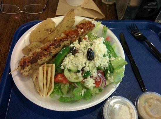 Chicken Souvlaki Platter - Picture of Souvlaki Fast, Palm Beach ...
