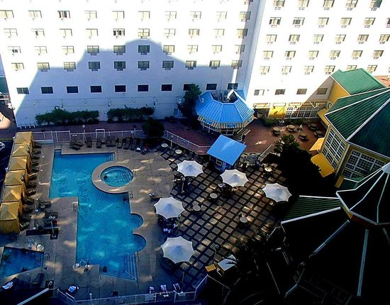 Tropicana Laughlin: 14th floor view of Pool area.