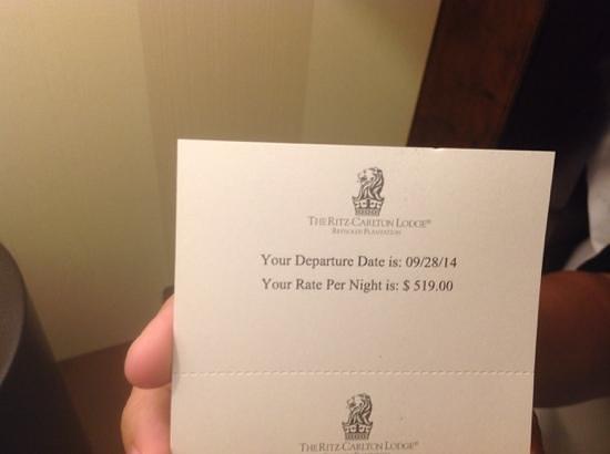 The Ritz-Carlton Reynolds, Lake Oconee: $519 a night and no internet
