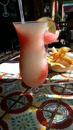 Los Galanes : Piña Colada & Strawberry  frozen Margarita... delicious!! Must try!