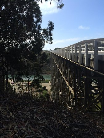 Albion, Californien: Wooden bridge