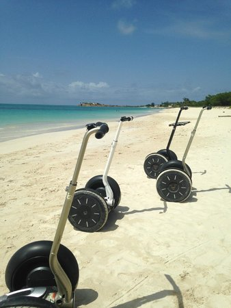 Segway Antigua Tours : Segways on Mystic Beach