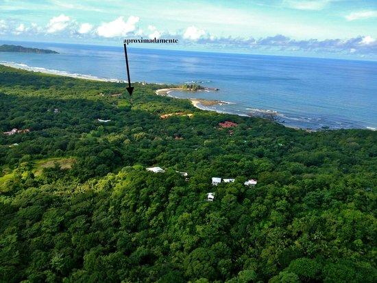 Refugio Del Sol Lodge: Vistas desde la avioneta donde llegamos a Nosara